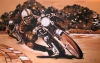 antique motorcycle mural