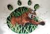 tiger mascot mural