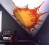 abstract sun mural
