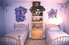 girls bedroom flower mural