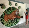 Painting tiger mural