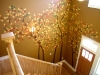 staircase fall trees mural