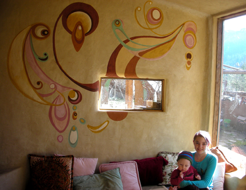 Earth painting on interior walls for Airbrush mural painting